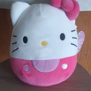 "8"" NWT RARE all pink hello kitty squishmallow"